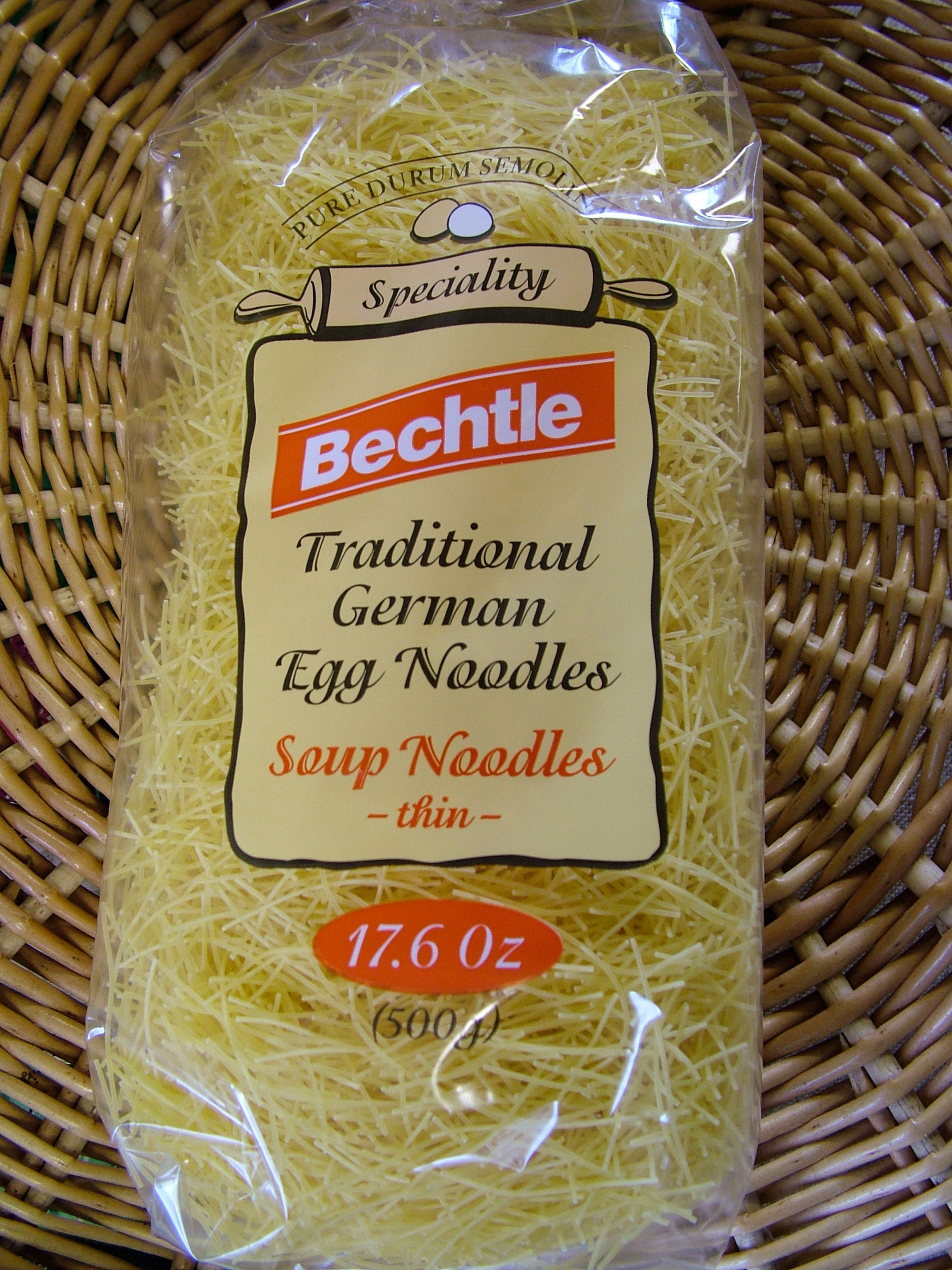 Bechtle Traditional German Egg Noodles, Soup Noodles, thin, 500g